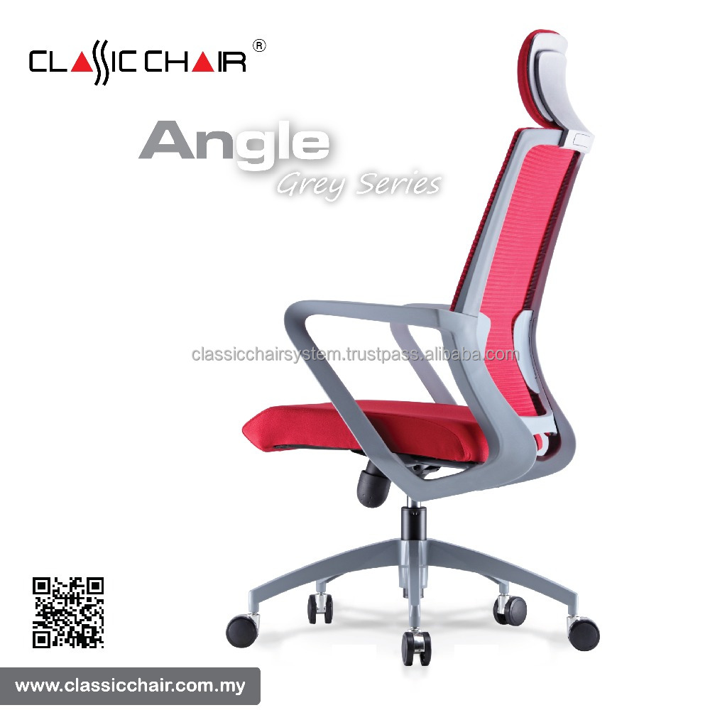 Malaysia Modern Grey Frame Ergonomic Mesh Office Chair with Headrest