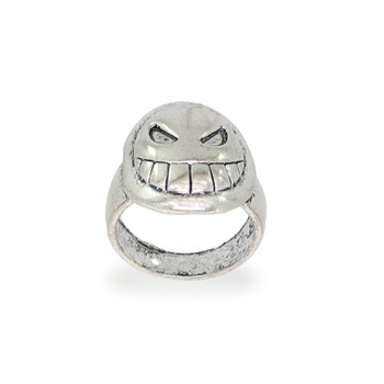 Jaipur Mart Wholesale Oxidised Rings Silver Plated Jewelry Stunning Smile Theme Design Finger Ring for Fashion Men