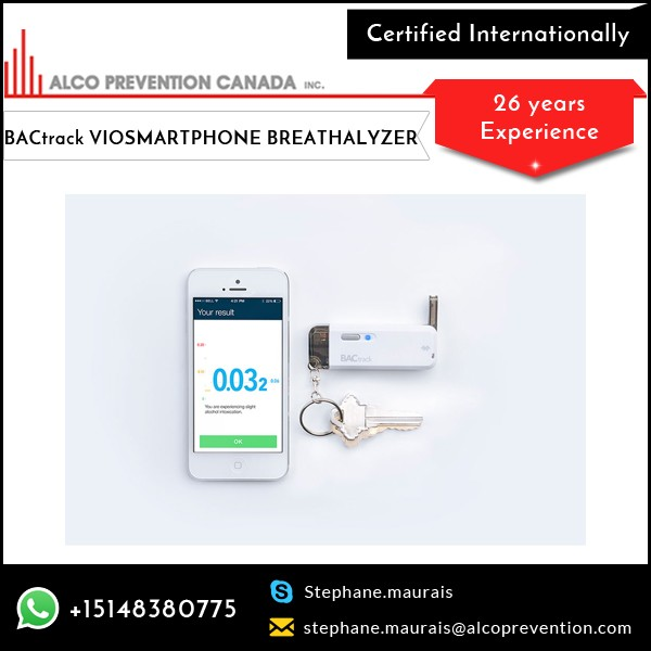 Accurate and Compact Alcohol Breath Tester for Smartphone