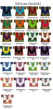 African Dashiki Unisex Ethnic Cotton Shirts