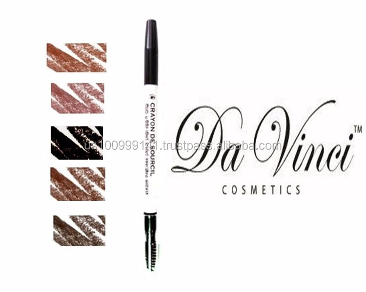Da Vinci Cosmetics Mineral Eyebrow Pencil - Black, Brown, Coffee, Henna, & Puce