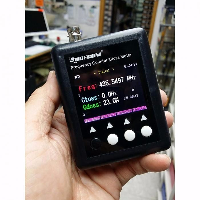 Free sample Portable SURECOM SF401plus Frequency Counter Meter