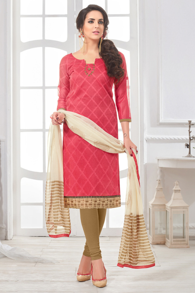 Chanderi Cotton Printed Designer Fancy Salwar Kameez