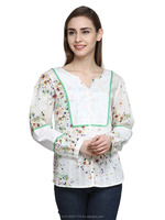 Ladies Readymade Garments Full Sleeve Printed Ladies Top