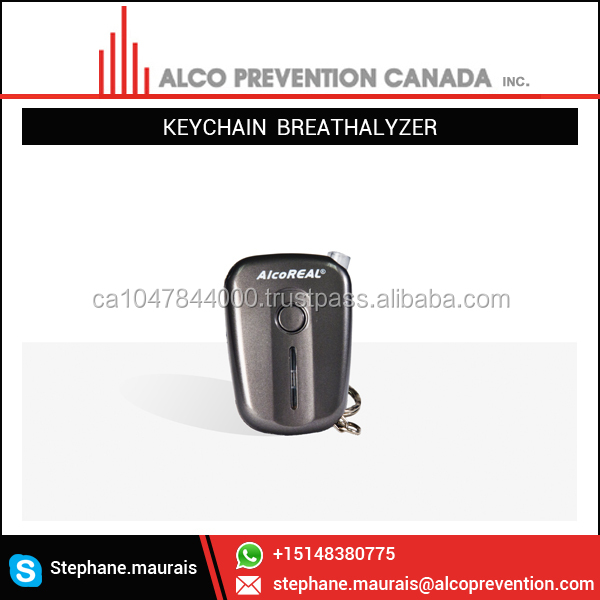 Best Compact Size Portable Keychain Breathalyzer Alcohol Tester with Bluetooth Connectivity