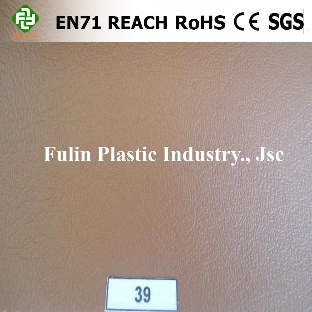 Vietnam sponge pvc embossed pvc synthetic leather