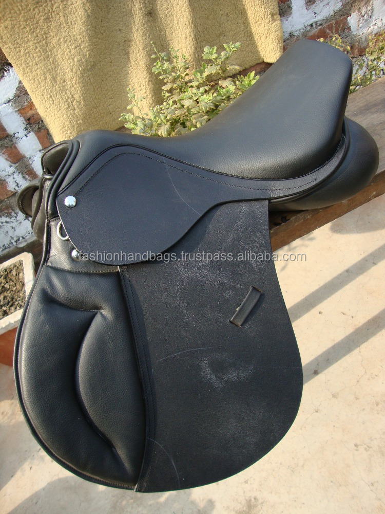 Buy Wholesale Online Black Horse Jumping Comfortable Leather Saddle