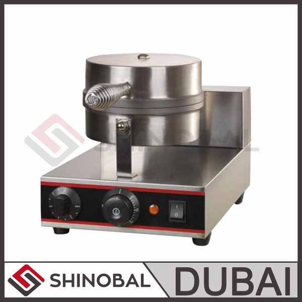 Dubai Shinobal Single Head Ice Cream Cone Baker Machine Nice Color