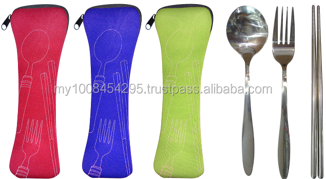 41411 Eco Friendly Cutlery Set with Pouch ( promotional gift, corporate gift, premium gift, souvenir )