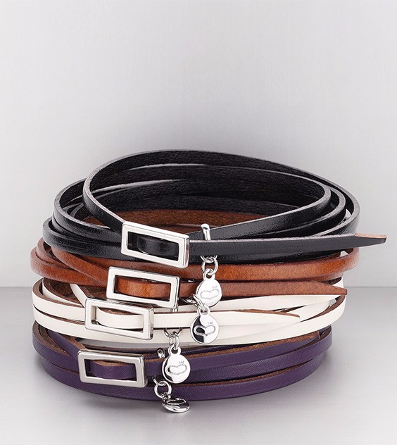 "MADE IN KOREA JEWELRY ""Around Leather Bracelet"" (8402-01-BR)"