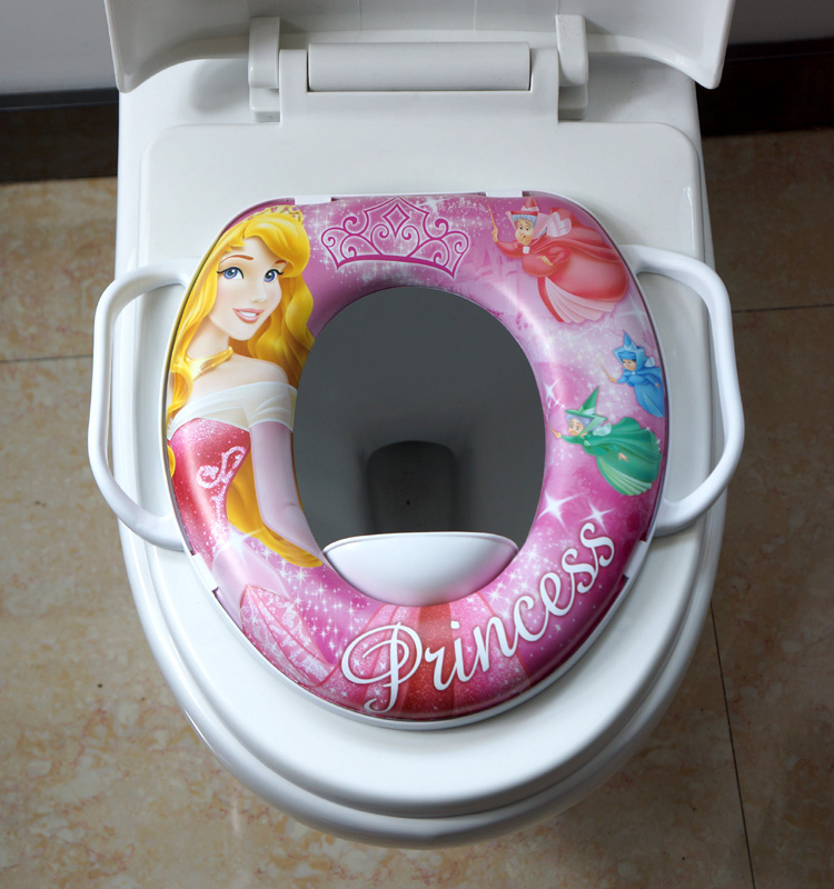 Novelty baby toilet seat with handles