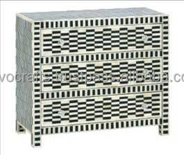Indian & Moroccan Style Camel Bone Inlay Chest of Drawer furniture (Bone & Mother of Pearl Inlay Furniture from India)r0