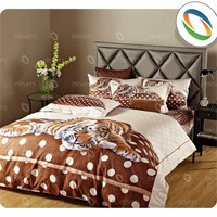Beautiful Polyester bed sets Fabric Tiger