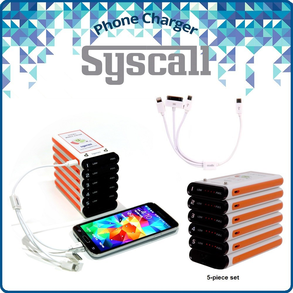Restaurant Phone Charger with power bank and workable with Apple, Samsung, and any smartphone