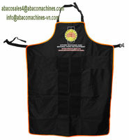 Economical Apron with ABACO logo, No Velcro, No Pocket, 0.8 Kg (1.76 Pounds)/each, 01 dark blue ply. Min order : 200