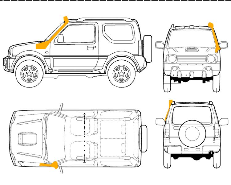 jeep cherokee xj   liberty snorkel 1985-1995 amci6