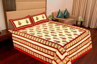 Indian Ethnic Rajasthani sanganeri patchwork double bedsheet Butterfly Moonlight Blue Comforter and Duvet Sets