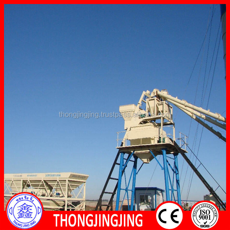 Hot Sale Mixing Machine HZS60 Cement Concrete Mixing Plant Price
