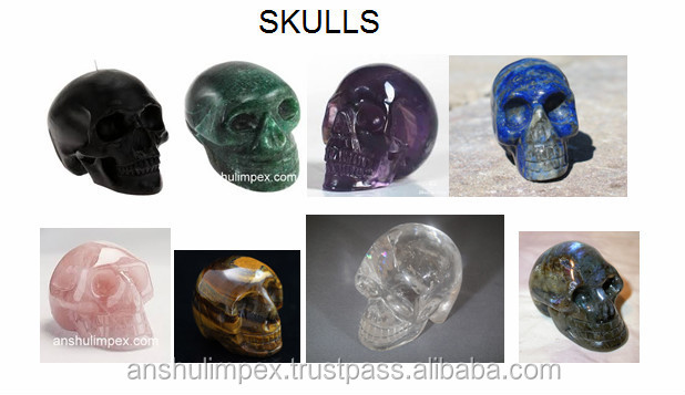 Fluorite Skulls for Metaphysical Healing an Jewellery Making