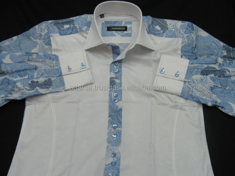 % 100 cotton paisley mens shirts (produced for India)