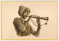 Folk Musician Original Water Color Hand Painted Old Look Miniature Art Indian Mughal Shah Kalam Style Painting
