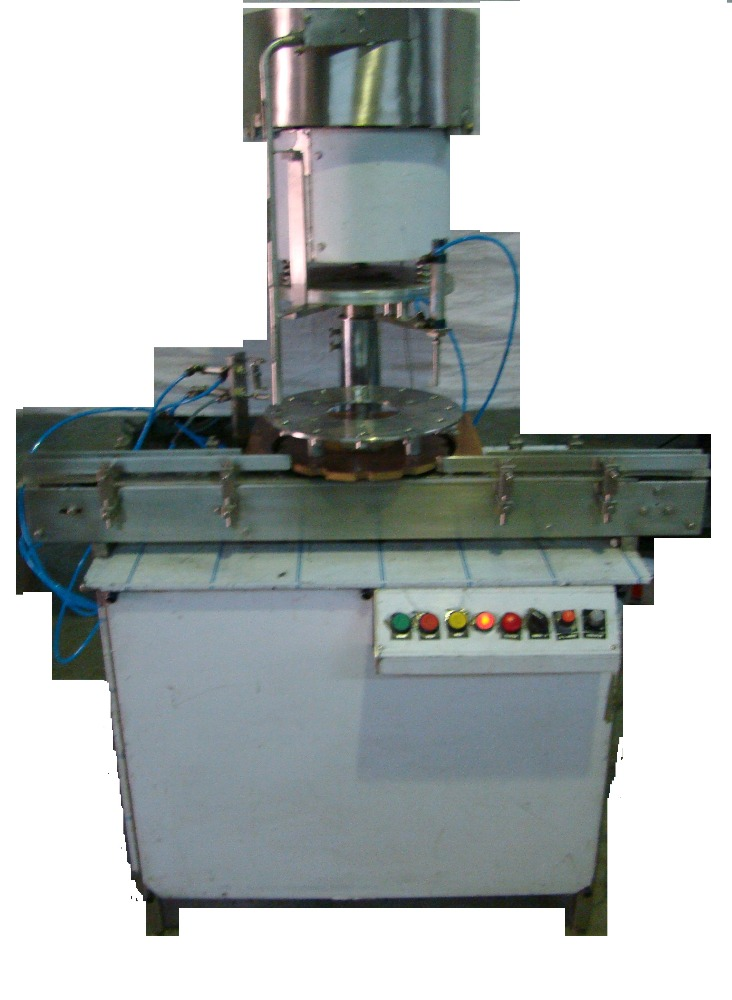 SEMI AUTOMATIC PLUG PRESSING & SEMI AUTOMATIC SCREW CAPPING