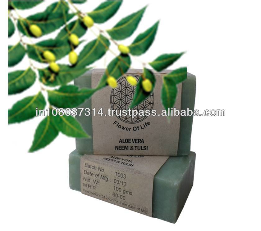 Natural Aloe Vera Neem Tulsi Soaps in India