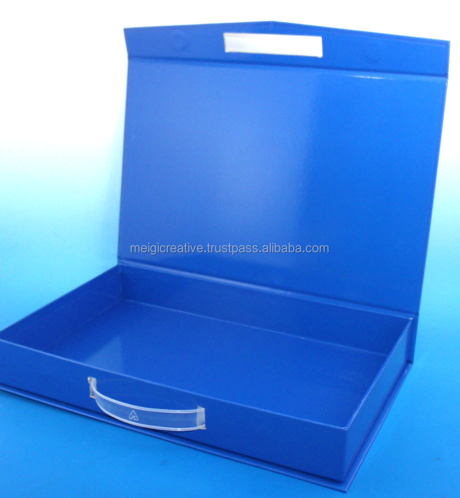 Custom Chipboard Box with Magnet Closure, Custom Plastic Insert Tray for Gift Boxes