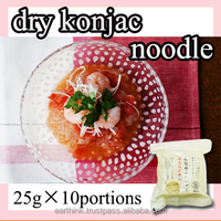 high quality and very popular Dried shirataki konjac noodle 25g x 10 portions