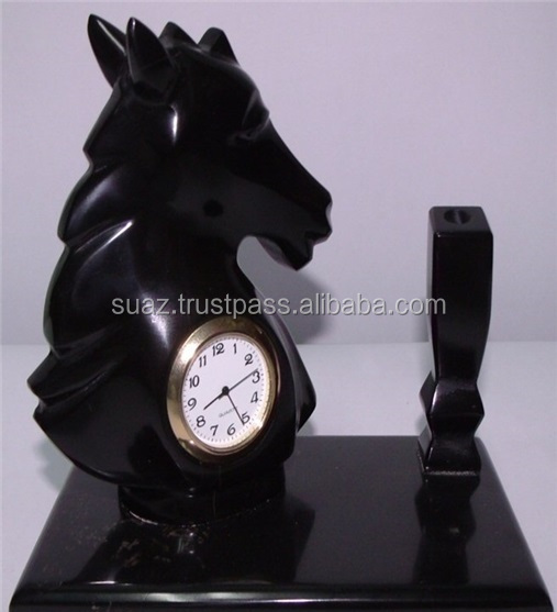 Cheap marble Onyx Table watch , Fancy marble onyx Desk clocks , Wholesale marble handicrafts