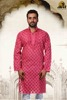 LUCKNOW CHIKAN HAND EMBROIDERED COTTON MEN'S KURTA BY A73949 ADA