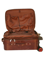 Wolesale high quality Vintage men leather travel bag trolley luggage bag