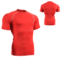 polyester spandex sports compression T Shirts wholesale men Running Wear