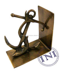 Designer Fish On Anchor (set of two),Aluminum Fish on Anchor bookend for sale,AluminumFish on Anchor bookend
