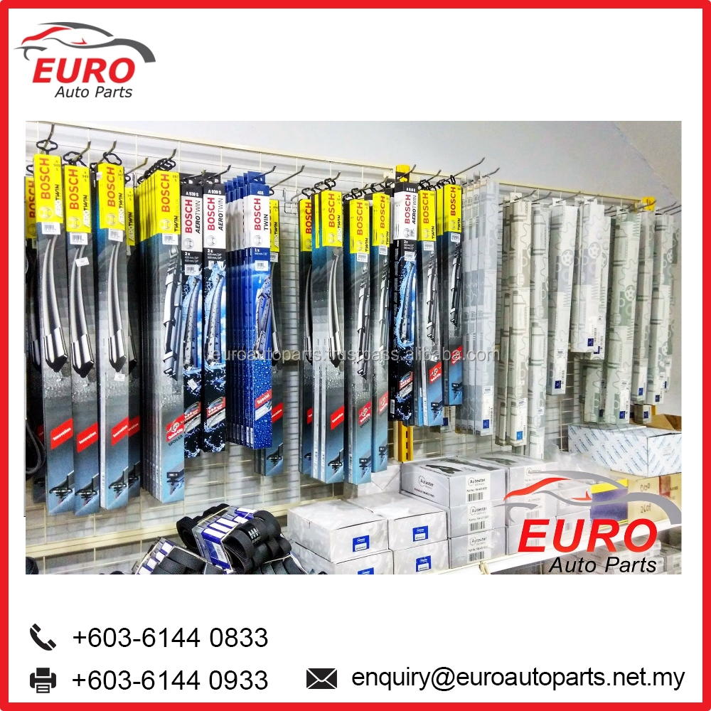 Euro Car Whidshield Wipers for Audi, BMW, Mercedes, Benz, Porsche and Volkswagen