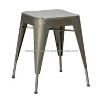 INDUSTRIAL & VINTAGE FURNITURE IRON STAKABLE CELLO STOOL