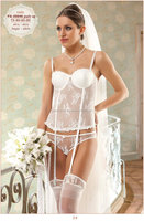 turkish brand sexy lingerie corset lace bustier push up lingerie bridal set