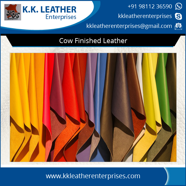 Eco Friendly Cow Hide Finished Nappa Leather at Wholesale Price