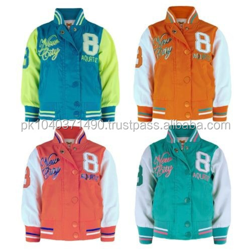 GIRLS NYLON VARSITY JACKET KIDS LIGHTWEIGHT BASEBALL/molten wool varsity jacket/Letterman junior Jacket