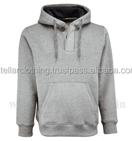 Mens Cotton Fleece Hooded Sweatshirt with Pocket