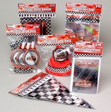 RACE CAR PARTY ASST 6ITEMS HAT/ BLOWOUT/BANNER/INV/LOOT #G24422