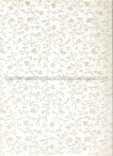non woven chiffon wooly papers with glitter print suitable for use in scrapbooking and wedding invitations
