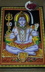 Traditional God Shiva Tapestry Indian Wall Hanging Ethnic Handmade Poster Shiv Shankar Boho Bohemian Student Dorm Hippy