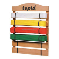 Martial Arts 10 Belt Display Holder Judo Jiu Jitsu Karate Freestanding Gift