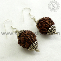 Rudraksha !! Silver Jewelry /Wholesaler Silver Jewelry /Eye Catching 925 Silver Earring ERCB1397-1