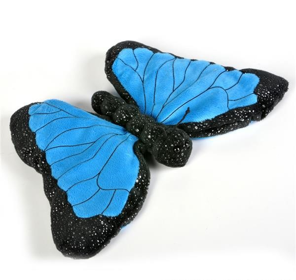 "12"" SPARKLE BLUE MORPHO BUTTERFLY PLUSH"