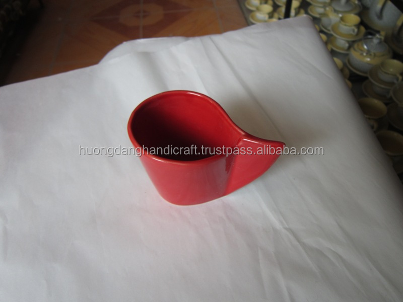Red drinking cup for coffe and tea set at hotel, restaurant and home usage, vietnam coffee mug in safety