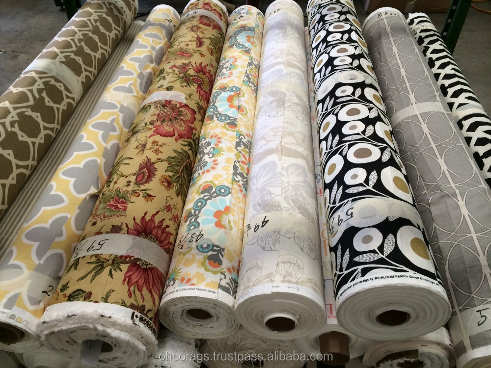 Curtain Fabric Stocklot Printed Drapery