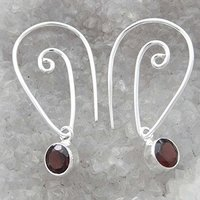 Garnet Oval Stone Marked 925 Earrings Dangle Earrings Woman Jewelry For Her SJE5304