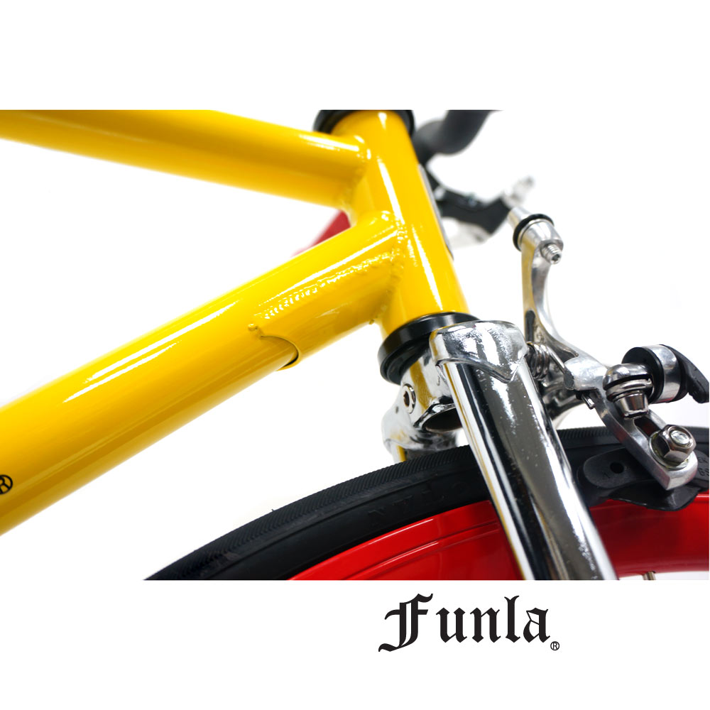 Funla Yellow Red 700C Fixed Gear complete bike